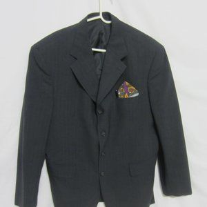 EUC MEN'S GEORGIO BELLI BLACK BLAZER 44R